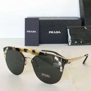 PRADA ORNATE BROW BAR JEWEL CAT EYE SUNGLASSES